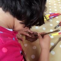 Taller infantil en mercadillo de Tegueste