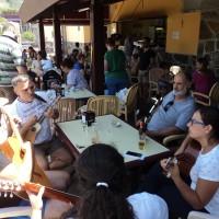 Música en mercado del agricultor de Tegueste