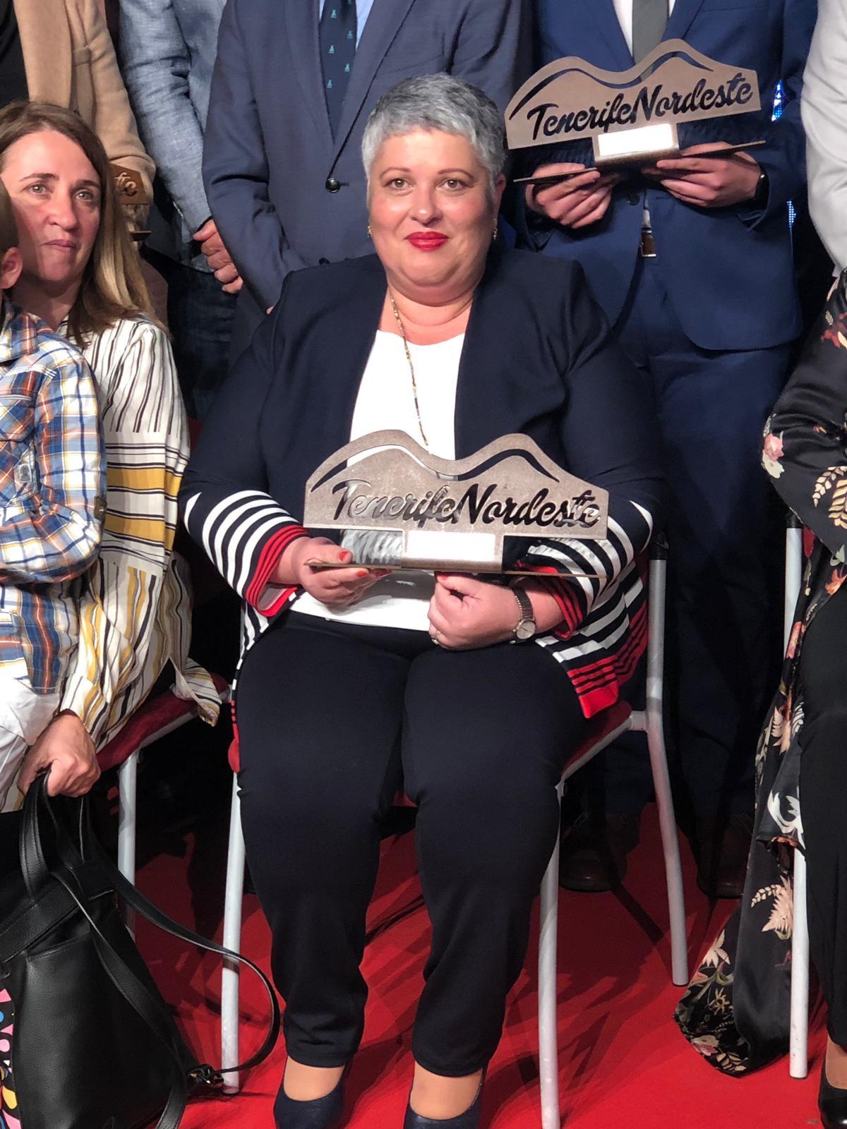 La artesana Dolores López Lutzardo del Mercadillo de Tegueste