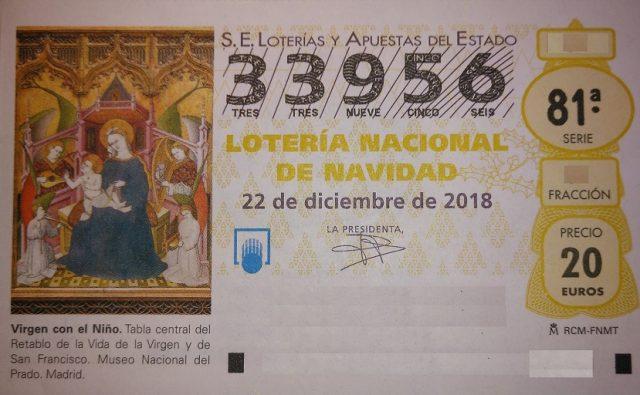 Loteria de Navidad Solidaria en Mercadillo de Tegueste 2018