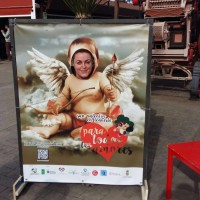 Photocall San Valentín Carnavalero en Mercadillo de Tegueste