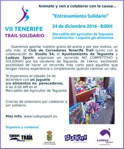 Deporte y solidaridad en Mercadillo de Tegueste