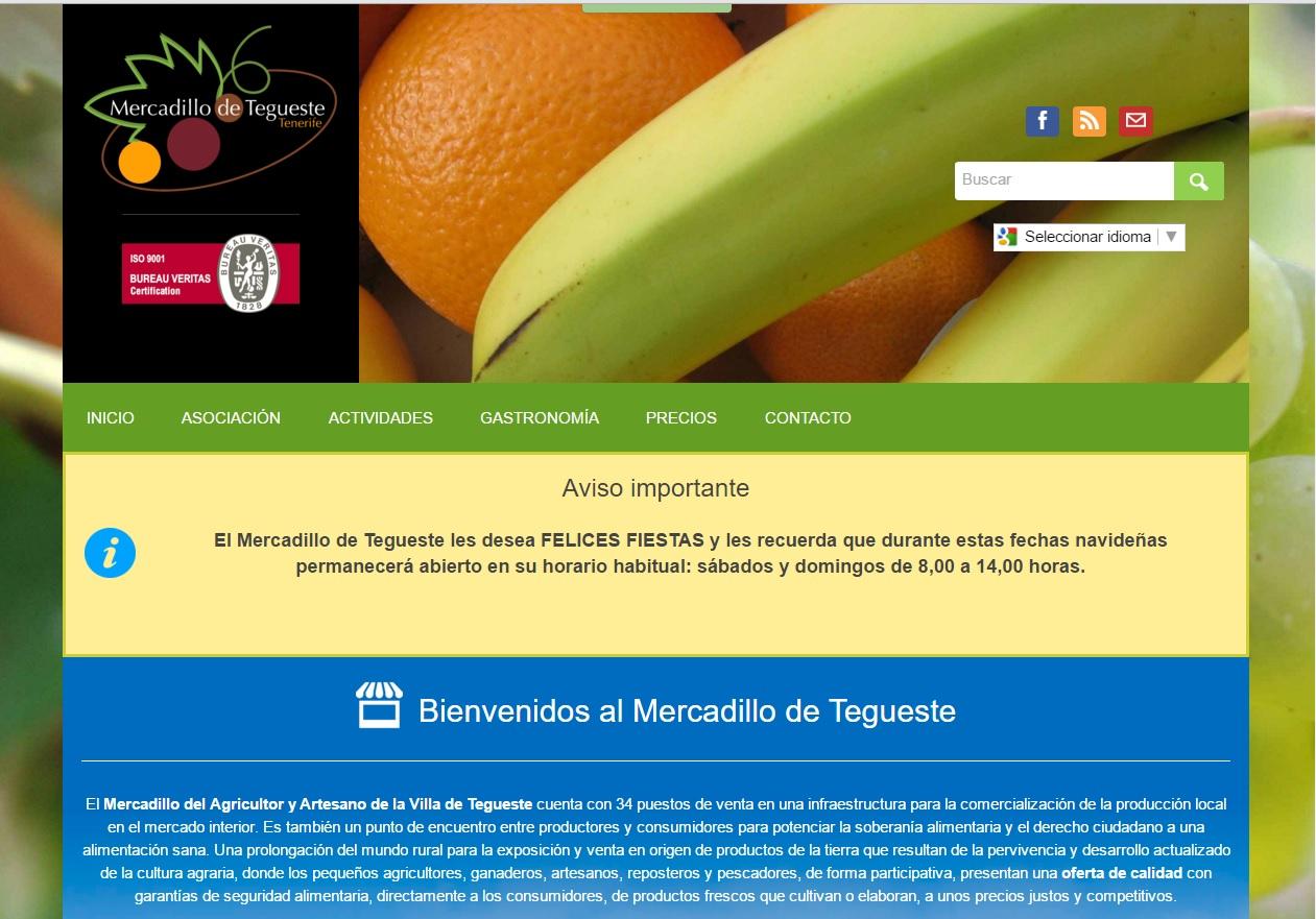 Redes sociales y Mercadillo de Tegueste